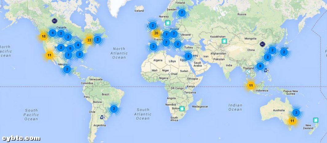 全球比特币ATM机超过200台